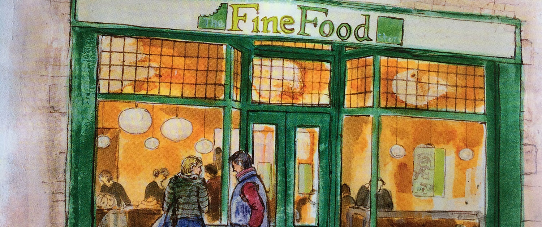 Fine Food Store Illustration